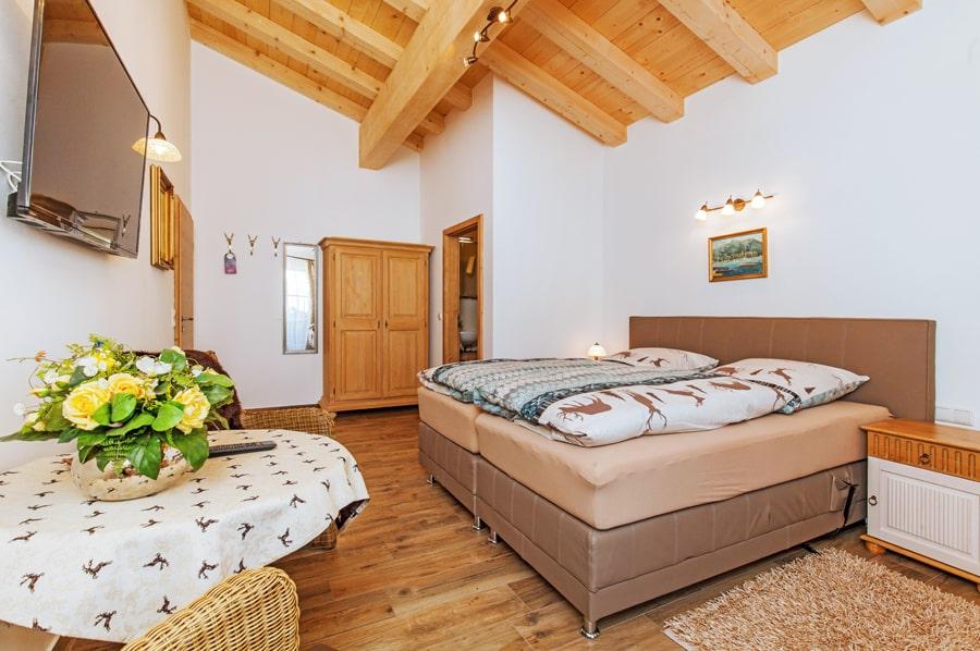 Sonnenalm Winklmoos gemütliches Zimmer