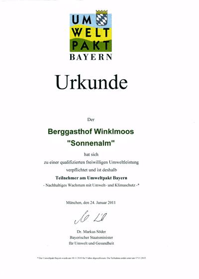 Auszeichnungen&Bewertungen - Umweltpakt-Bayern