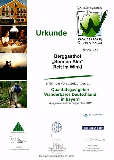 Auszeichnungen & Bewertungen -Wanderbares-Deutschland