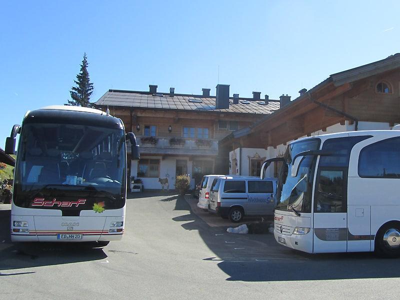 Ausflugsziel für Busse - Parkplatz