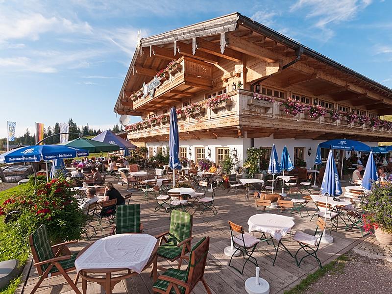 Ausflugsziel für Busse - Terrasse