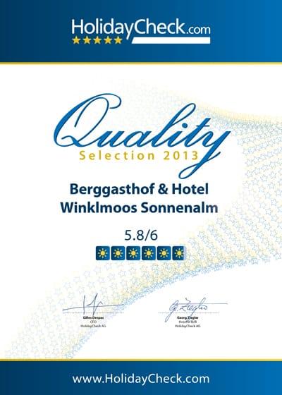Auszeichnungen&Bewertungen HolidayCheck 2013