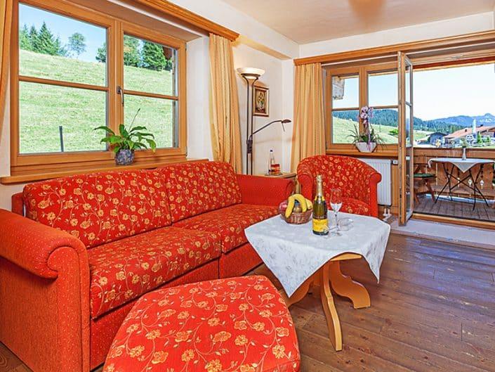 Hotel Sonnenalm Wohnen mit Bergblick