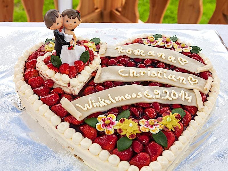 Veranstaltungen - Hochzeitstorte Herz