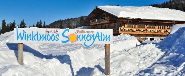Aktivitäten Winter - herzlich Willkommen Schild
